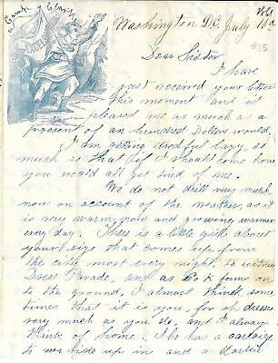 Union Soldiers Letter LB Henry from Camp Clark, Washington DC to Sister & Mother