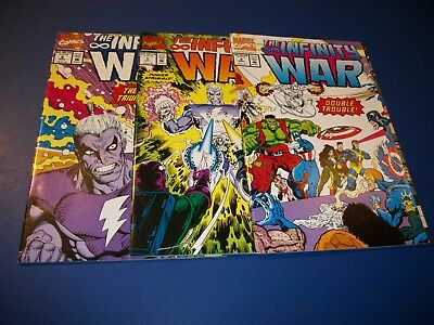 Infinity War #4,5,6 Lot 1 Run of 3 Thanos Warlock VF- to NM- Gauntlet Avengers!
