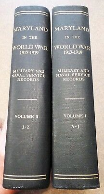 MARYLAND IN THE WORLD WAR 1917-1919 - Army & Navy records 29th & 79th Divisions