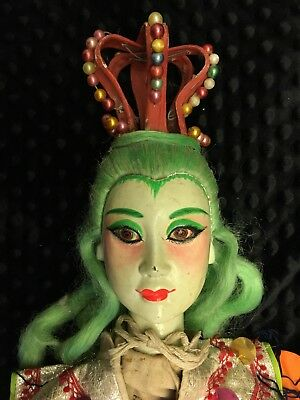 Antique Asian Taiwanese Opera Doll Puppet With Certificate