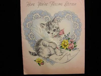 """Vintage """"please Feel Better On Valentine's Day!!"""" Valentine Greeting Card"""