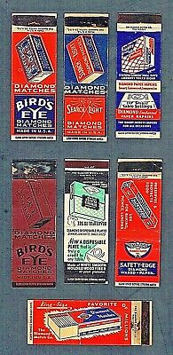 Matchbook Covers Lot of (7) Diamond Match Co. Classic Antiques 1930's-1940's #15
