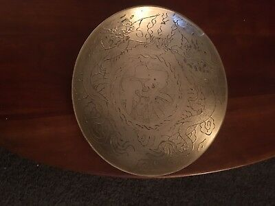 Antique 19th Century Chinese Bronze Plate and Large Bowl-Gorgeous Patina