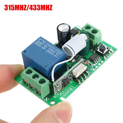 220V 10A 315MHz/433MHz 1 Channel Wireless Relay Remote Control Switch