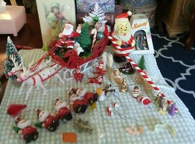VINTAGE 1940-1960s.SMALL CHRISTMAS DECORATIONS LOT. IN EXCELLENT CONDITION.