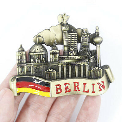 "3D Metal Fridge Magnet ""Berlin, Germany"" Souvenir Gift New Good Quality"