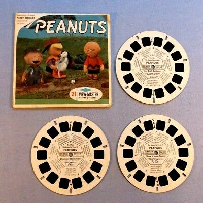 Viewmaster Reels - Peanuts - Set Of 3 With Cover In Good Condition