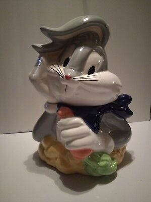 1993 Looney Tunes BUGS BUNNY Ceramic Cookie Jar Canister