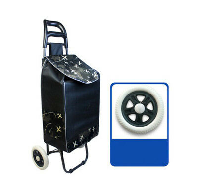 A199 Rugged Aluminium Luggage Trolley Hand Truck Folding Foldable Shopping Cart
