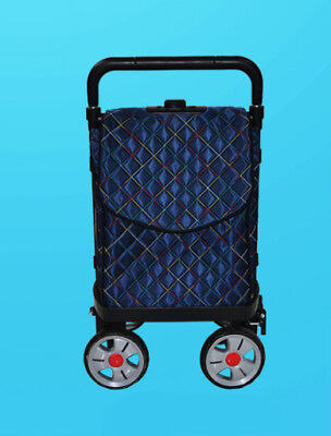 A125 Rugged Aluminium Luggage Trolley Hand Truck Folding Foldable Shopping Cart