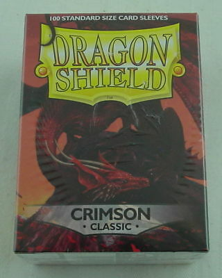 Dragon Shields: (100 Sleeves) Classic Crimson by Arcane Tinman ATM10021 Standard