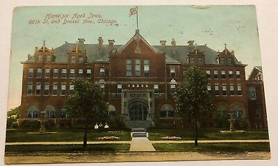 Vintage 1909 Postcard of the Home of Aged Jews - Chicago, Illinois
