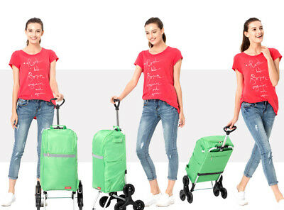 A87 Rugged Aluminium Luggage Trolley Hand Truck Folding Foldable Shopping Cart