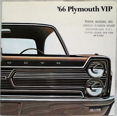 1966 Plymouth Vip Automobile Car Advertising Sales Brochure Guide Vintage