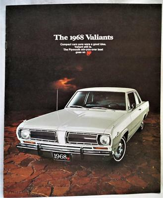 1968 Plymouth Valiant Automobile Car Advertising Sales Brochure Guide Vintage