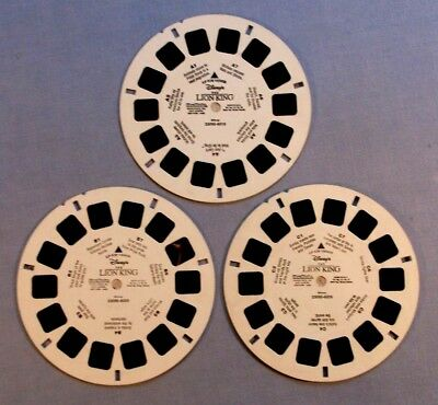 Viewmaster Reels - Disney's The Lion King - Set Of 3 In Very Good Condition