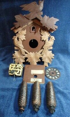 Vintage West German Made Cuckoo Clock E. Schmeckenbecher For Parts & Or Repair