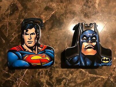 Batman & Superman Lunch Boxes Pristine Condition!!! Free Shipping!!!