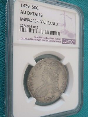 1829 Capped Bust Half Dollar 50C Silver Us Coin Ngc Au Details Us Coin