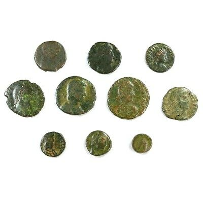 Ten (10) Nicer Ancient Roman Coins c. 100 - 375 A.D. Exact Lot Shown rm3306