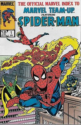 The Official Marvel-Team up Index Featuring Spider-Man No.1 / 1986