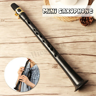 Black Simple Saxophone Alto Little Sax Mini Pocket Sax Portable w/ Carrying