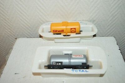 Lot 2 Wagon  Jouef Citerne Shell + Total Train/loco/car/wagen