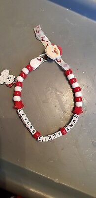 Large Selection *christmas * Personalised Dummy Clips To Choose From + Mam Ring!