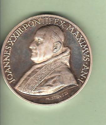 Medaille Papale Argent Jean Xxiii An I / Papa Papst Pope Silver Papal Medal