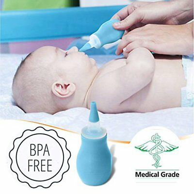 Baby Newborns Nasal Vacuum Suction Soft Tip Mucus Aspirator Runny Nose Cleaner