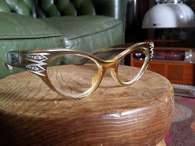 Vintage Original 1950s SWANK French Cat Eye Reading Spectacles Sunglasses Frame