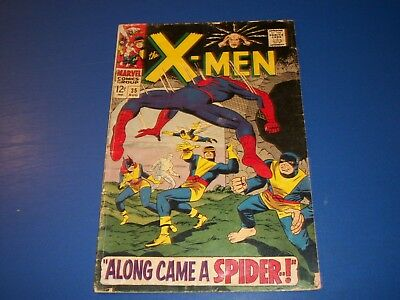Uncanny X-men #35 Silver Age Spider-man Key Wow Lower Grade