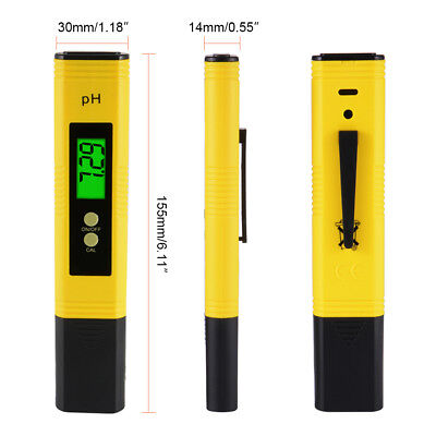 Pocket Digital LCD Ph Meter Tester Hydroponics Pen Aquarium Water Test BI718