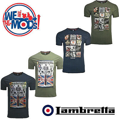 066a178b1 Lambretta T-Shirts Print Scooter MOD Short Sleeve Mens Retro Cotton UK S-4XL