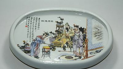 CHINESE FOLK ART Collection -- China old Painted porcelain  Ellipse plate