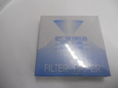 New Lab Filter Paper Qualitative Box of 100 For Laboratory  Chemistry   9.0cm