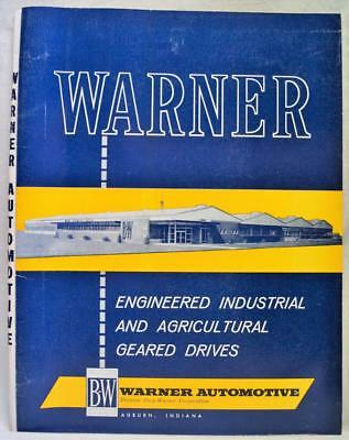 Warner Automotive Sales Catalog Of Agricultural Geared Drives Vintage 1960