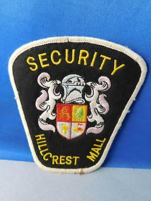 Hillcrest Mall Security Officer Uniform Patch Vintage Toronto Ontario