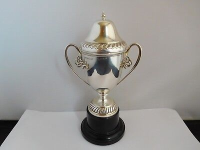 Superb And Rare English Sterling Silver Lidded Cup / Trophy