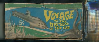 1964 Donruss Voyage To The Bottom Of The Sea 5-Cent Display Box GAI 6 (EX-MT)