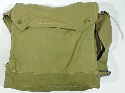 WWII British Mark VII Gas Mask Bag, 1943, Indiana Jones Satchel