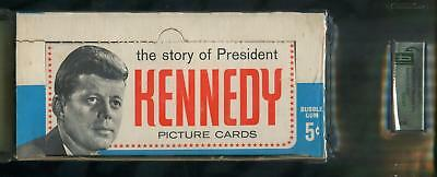 1963 Topps The Story Of President John F. Kennedy 5-Cent Display Box GAI 8 NM-MT