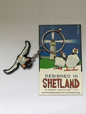 Puffin Key Ring, Tammie Norie, Designed in Shetland, Free Postage