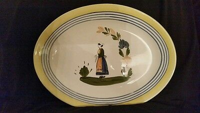 Blue Ridge Lyonnaise Serving Platter Woman Southern Potteries