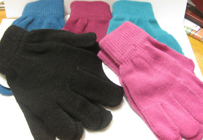 60 Pairs Magic Gloves New Winter Snow Coloured One Size Joblot Wholesale Pound
