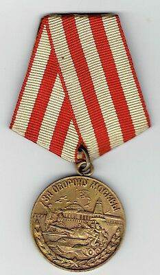 Soviet homeland , defense of Moscow   medal , w/ribbon