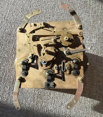 Vintage German Brass Clock Movement For Spares And Repair