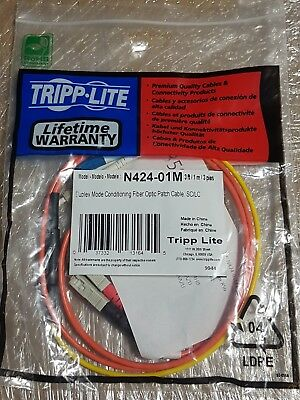 TrippLite-Cables Duplex Mode Fiber Optic Conditioning Patch Cable-N424-01M-3'/1m