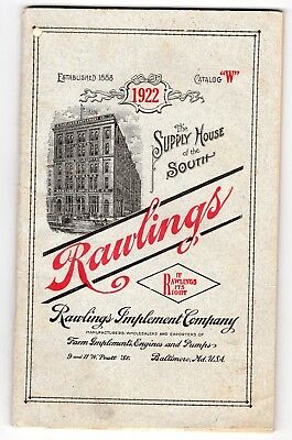 1922 Rawlings Agricultural Equipment Catalog