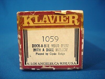 Vintage Piano Roll - Klavier # 1059 - Rock-A-Bye Your Baby With A Dixie Melody